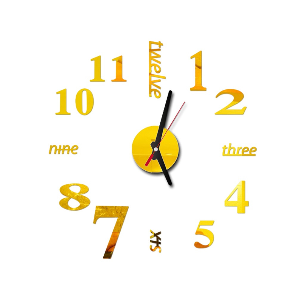 Sticker Watch Clocks Wall Home-Decor Digital Living-Room Creative Modern-Design on DIY title=