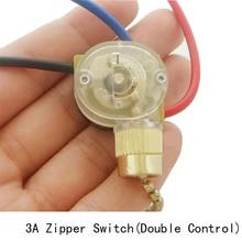 цена на Zipper switch pull switch ceiling light switch wall lamp switch ceiling fan switch 3 wire double control 1PC free shipping
