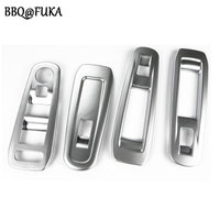 BBQ@FUKA 4Pcs Matte Door Window Switch Button Control Panel Cover ABS Trim Frame Deocration Fit For Peugeot 408 2014 Car Styling