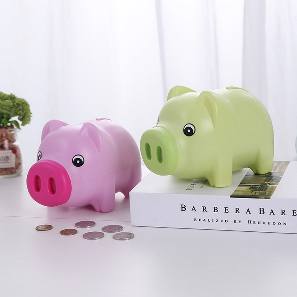 Cartoon Plastic Piggy Pig Bank Cash Coin Can Money Bank For Kids Birthday Christmas Day GiftCartoon Plastic Piggy Pig Bank Cash Coin Can Money Bank For Kids Birthday Christmas Day Gift