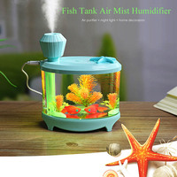 460ml USB Fish Tank Humidifiers LED Light Air Ultrasonic Humidifier Essential Aroma Diffuser Mist Maker For