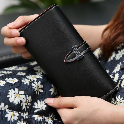 2016 New Carteira Real Women's Wallet Purse with Large Capacity and Multi-Card Holder Long Section Solid Colors 2