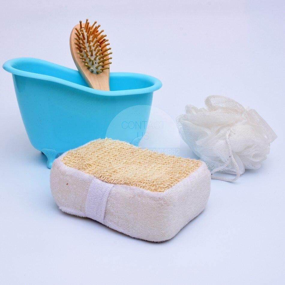 NEW Bathtub Bath set Bath sponge Wooden Comb 4pcs Bath sets bathtub ...