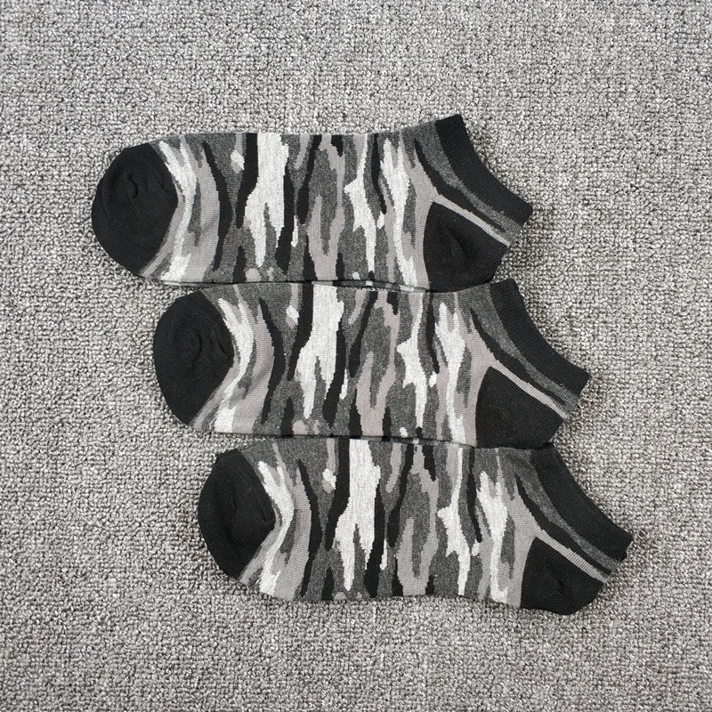 3 Pack Men's Military Army Skate Camouflage Low Cut Socks USA Size 7-11,Euro Size 40-44 (Non Cotton)