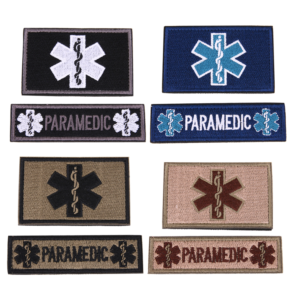 Entertainment Memorabilia Spirited 2pcs/set 3d Embroidered Patches Emergency Medical Technician Emt Diy Military Tactical Armband Badge Armband Cloth Superior Materials