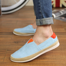 Spring And Autumn Nice New Arrival Canvas Men Shoes Hemp Flats Casual Shoes Breathable Flats Low Heel Shoes Men Fashion