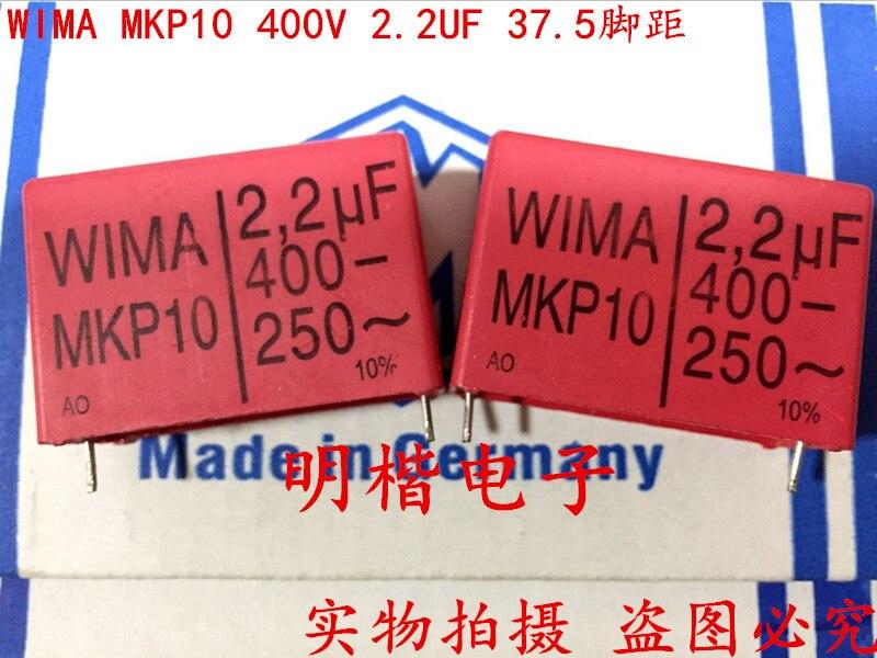 2018 hot sale 5PCS/10pcs Germany WIMA MKP10 400V 2.2UF 400V 2U2 225 P: 37.5mm free shipping