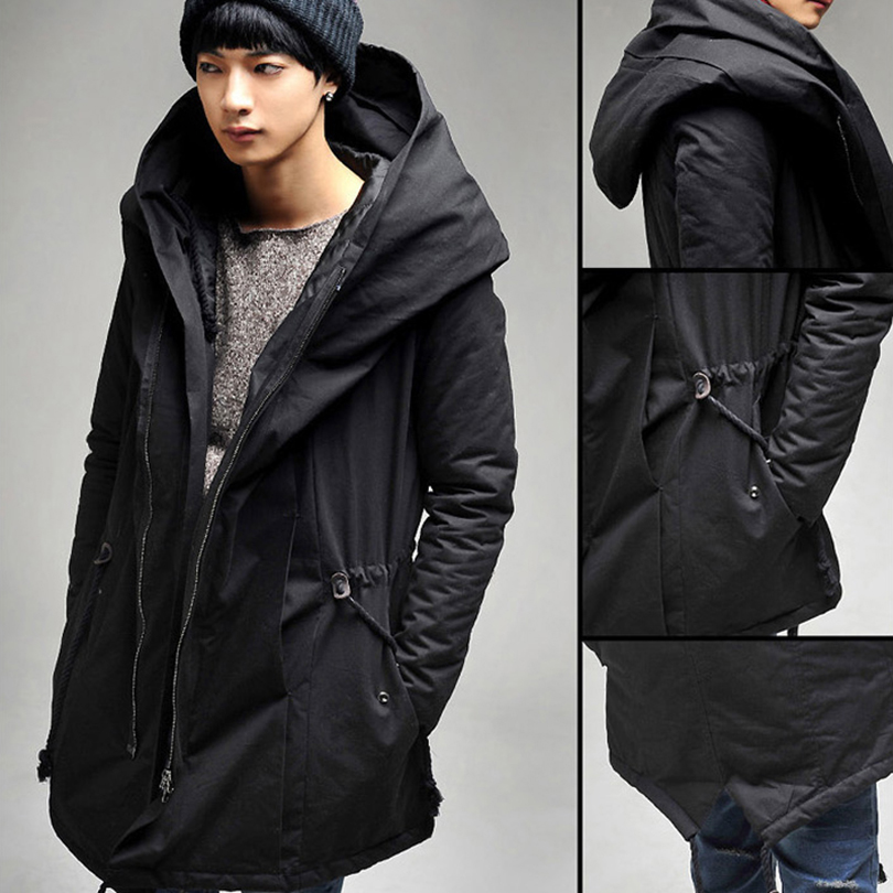 Men Down Jacket 2016 Hot Sale Men's Solid Causal Long Warm Windproof Coat Male Fashion Padded Hooded Winter Wear Thick Coat Z05
