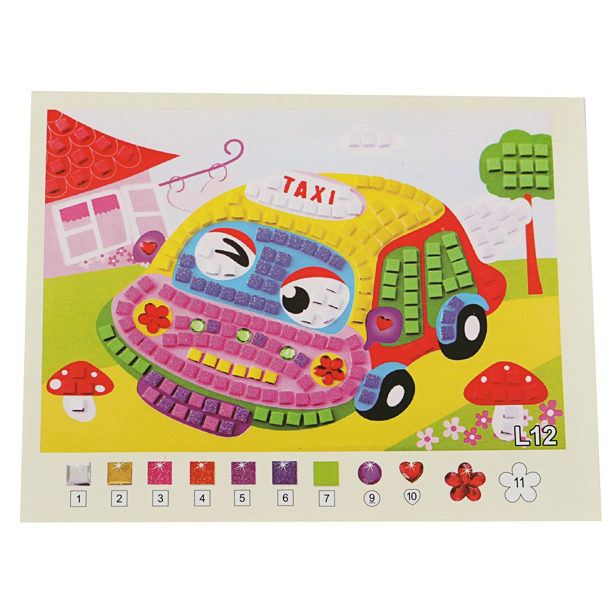 3d eva foam cartoon car mosaics art stickers painting children kids game multicolor puzzle diy handmade