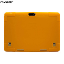 10.1-inch Tablet PC Android 7.0 Google 3G Call Octa Core 4GB RAM 32GB ROM Wi-Fi Bluetooth IPS Rubber Case 10.1 Tablet PC Orange