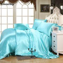 Комплект постельного белья из шелка и атласа на весну лето