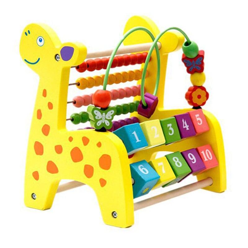 En bois Autour des Perles Mathématiques Jouets Éducatifs Jeu Enfants Enfants Girafe Abacus Perles