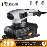 DEKO Sheet Sander with 15 Sheets of sandpaper and Dust exhaust Power Tools Electric Sander