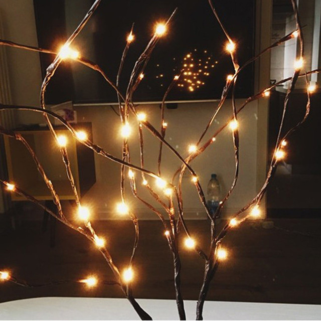Christmas Tree Decoration Led Willow Branch Lamp Floral Lights  Bulbs Home Christmas Party Supplies Xmas
