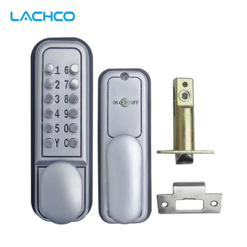 LACHCO  Mechanical Code Lock Digital Machinery Keypad Password Door lock Stainless Steel Single Latch Zinc Alloy Silver L17007 dl1115 electronic lock numeric keypad code rf card mechanical key zinc alloy rust