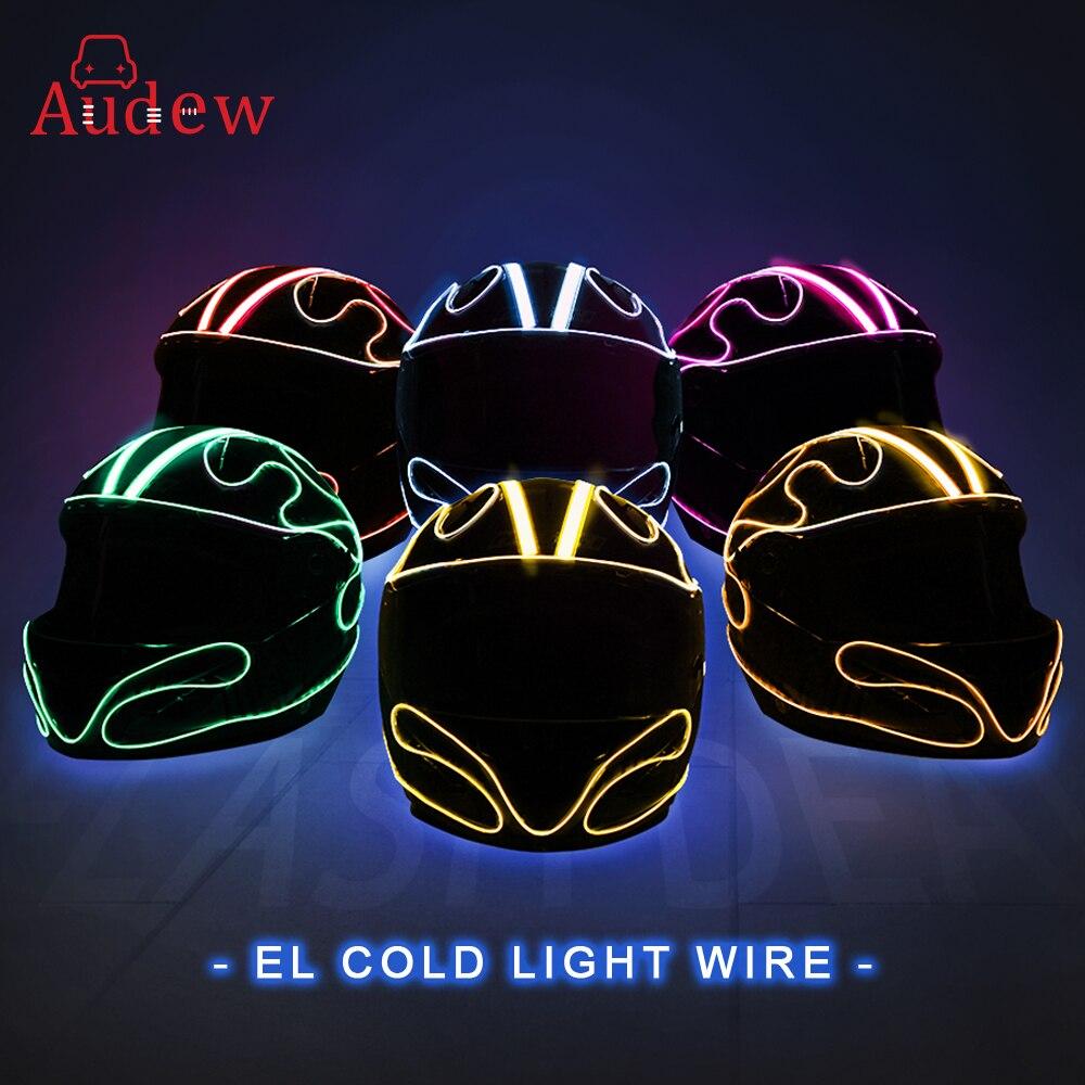 Motorrad Helm Streifen El Emittierende Kalt Licht Helm Blinkende Bars Helm Leuchtende Streifen Diy Geändert Helm Licht Aufkleber