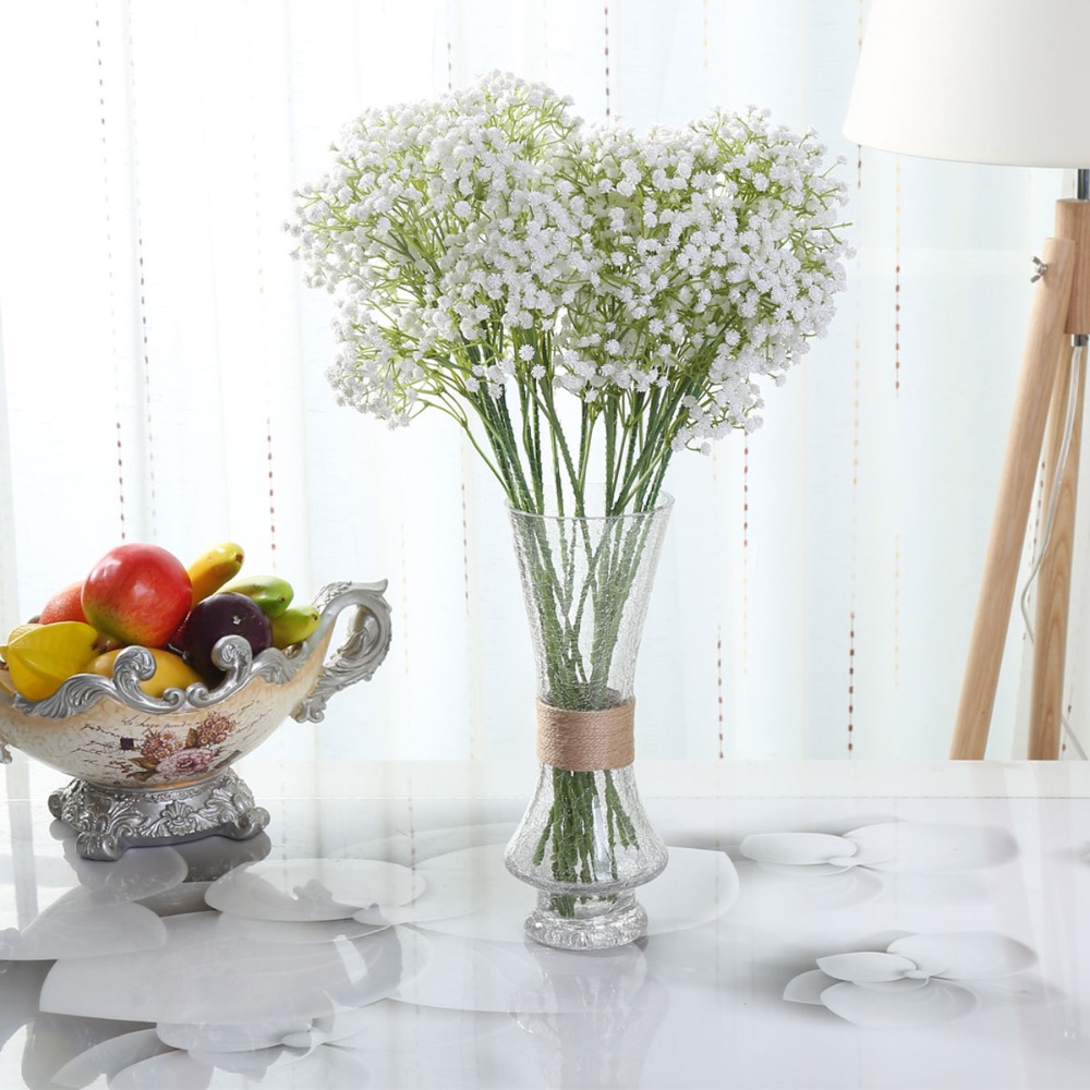208 artifical babysbreath wedding decorative plastic gypsophila 162 small flowers bridal bouquet flower good