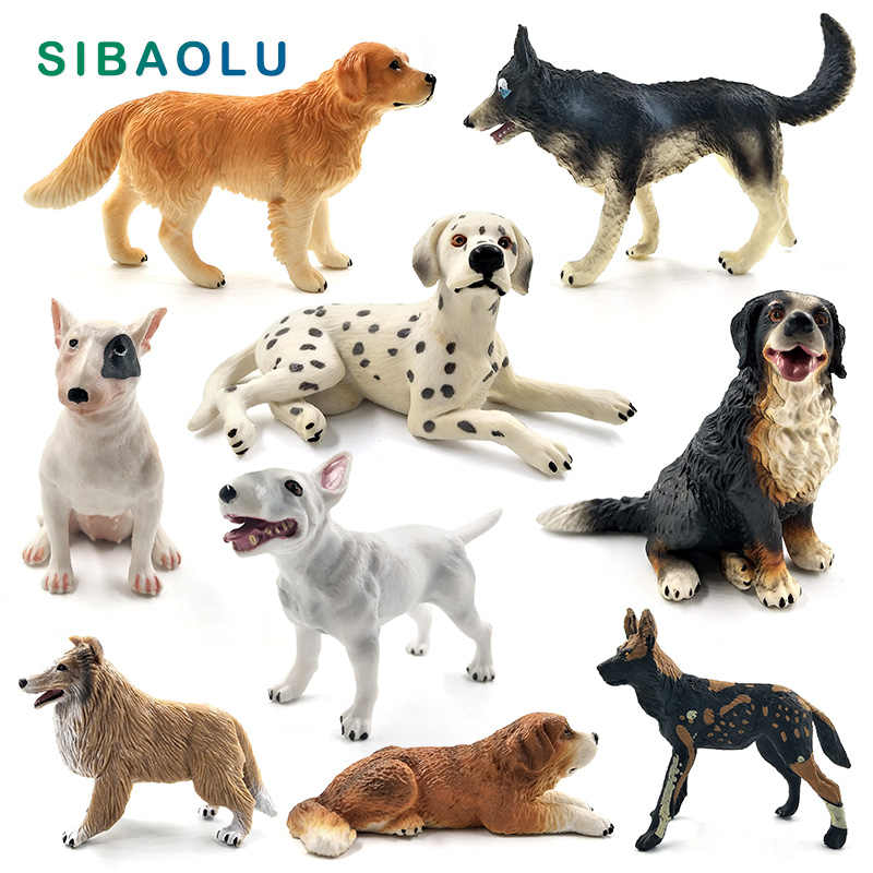 Dalmatian Bulldog Bull Terrier Labrador Siberian husky Dog Animal Model figurine home decor fairy garden decoration accessories