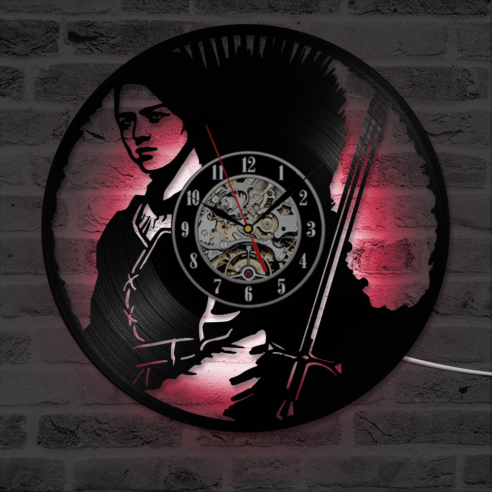 Game of Thrones HBO Movie Characters Vinyl Record Clock Modern Design Antique Style LED  ...