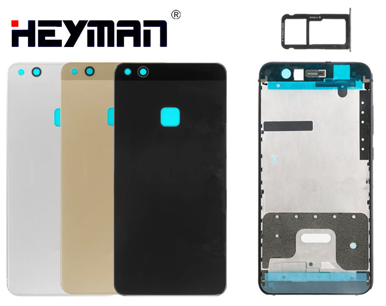 Housing For Huawei P10 Lite WAS-L21/WAS-LX1/WAS-LX1A Middle Front Frame Housing Bezel Holder Frame Back Cover Case Door