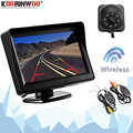 Koorinwoo Wireless 4.3 Inch LCD TFT Monitor Screen Display With Camera Rearview Reversing Parking System Video Backlights Full
