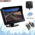Koorinwoo bezprzewodowy 4.3 Cal LCD TFT ekran monitora wyświetlacz z kamera wsteczna cofania Parking System wideo podświetlenie pełna