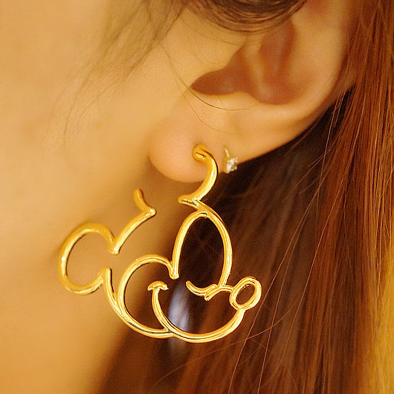 Todorova Lovely Cartoon Mickey Stud Earrings For Women Girls Kids Birthday Gift Cute Animal Mouse Earring Black Female