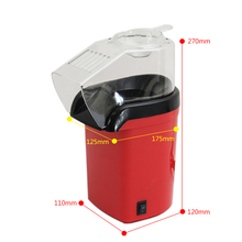 цена на 1200W Mini Household Healthy Hot Air Oil-Free Popcorn Maker Machine Corn Popper For Home Kitchen