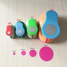 "Free Shipping 4PCS (2"",1"",5/8"",3/8"") Circle craft punch set cortador de papel de scrapbook school paper foam Round hole punches"
