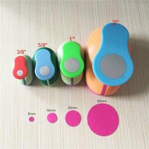 """Image 1 - Juego de perforadoras circulares para manualidades, kit de punzones redondos de espuma de papel para scrapbook, 4 Uds. (2 """",1"""",5/8 """",3/8""""), envío gratis"""