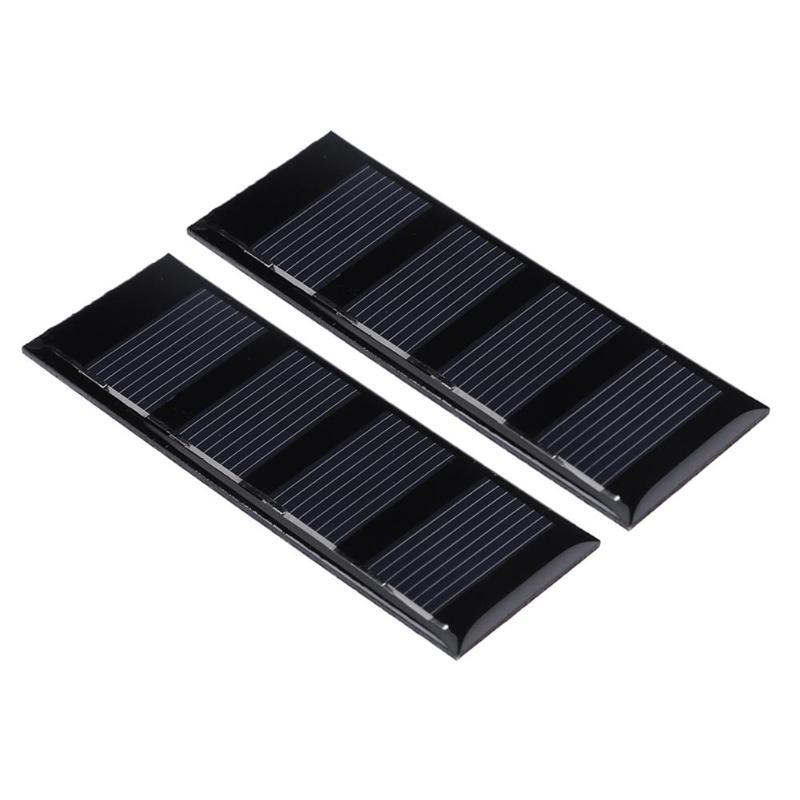 ALLOYSEED 2pcs 0.2W 2V Solar Panels Epoxy Polycrystalline heterojunction solar cell Silicon DIY Battery Modules board