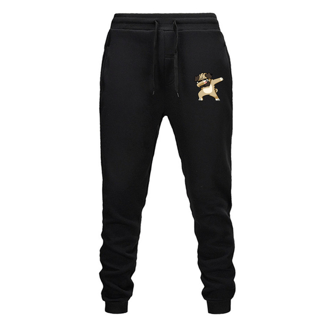 Men's Sport Dog Patterned Pants