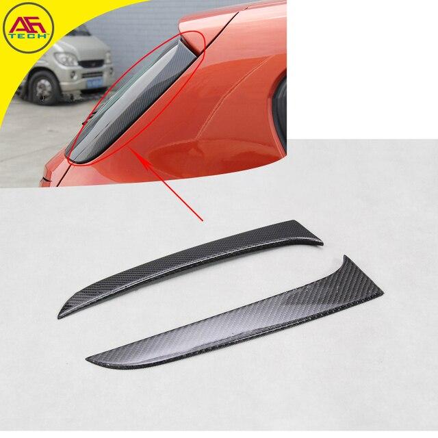 Carbon fiber door lip fin spoiler rear window splitters back window fin rear for BMW 1 & Carbon fiber door lip fin spoiler rear window splitters back window ...