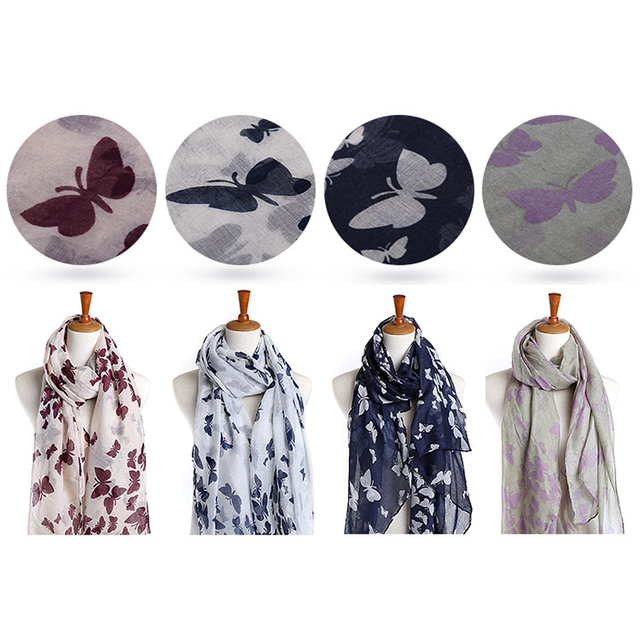 Butterflies Spring Scarves | Lightweight Scarves