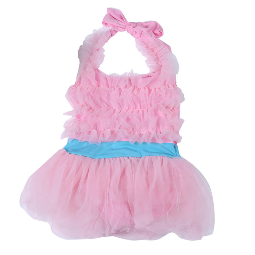 Grils Clothes Toddler Kids Baby Suit Fashion Summer Baby Girl Princess Bow Jumpsuit Swimwear Ballet Layered Tulle Dress P4