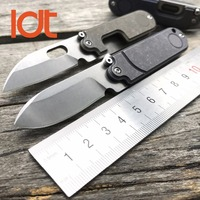 LDT Mini Bean Folding Knives S35VN Blade Titanium Handle Camping EDC Tool Utility Outdoor Hunting Tactical Survival Pocket Knife