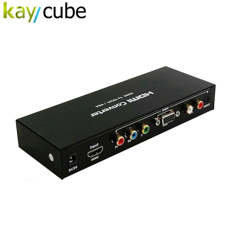 HDMI TO VGA /YPBPR Converter AV To VGA SPDIF Converter Adapter R / L 1080P HDMI to VGA /SPDIF/RL Adapter ...