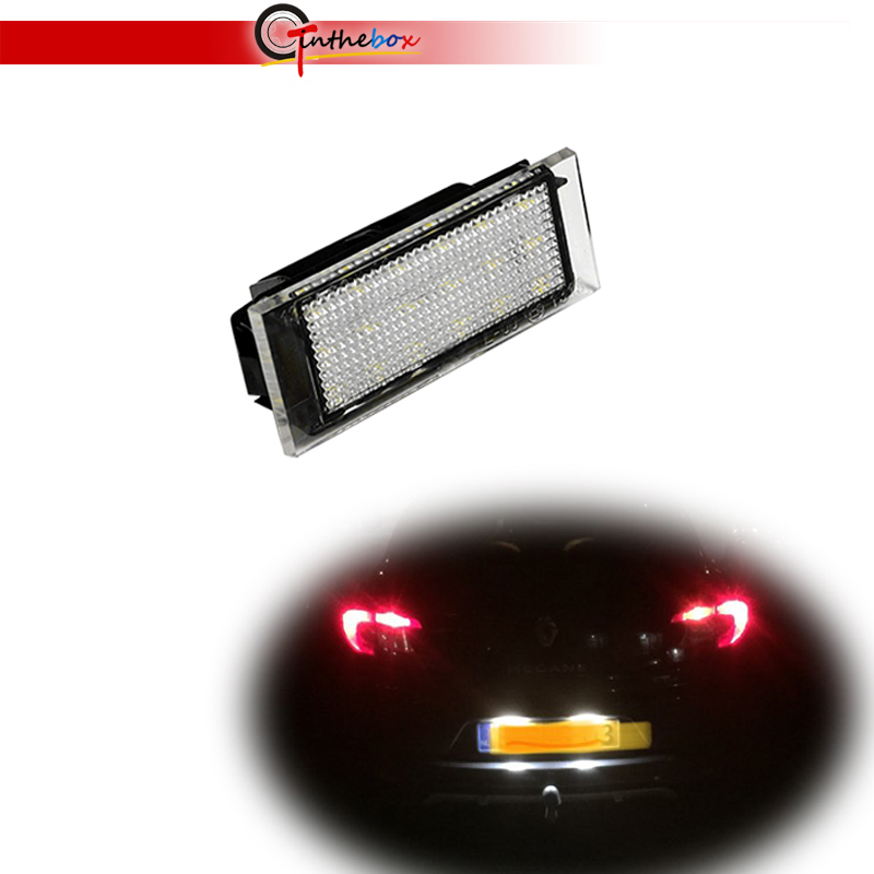 Gtinthebox 1PC Car <font><b>LED</b></font> License Plate Light For <font><b>Renault</b></font> Megane 2 Clio Laguna 2 Megane <font><b>3</b></font> Twingo <font><b>Master</b></font> Vel Satis Opel Movano Lamps image