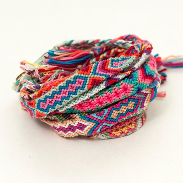1 5 Cm Wide 1000pcs Lot 50 Color Packaging Friendship Bracelets Handmade Weave Rope String Woven