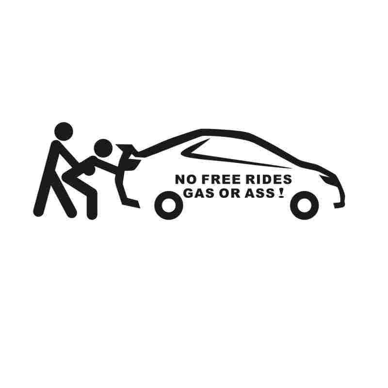 Pegatina No free rides gas or ass