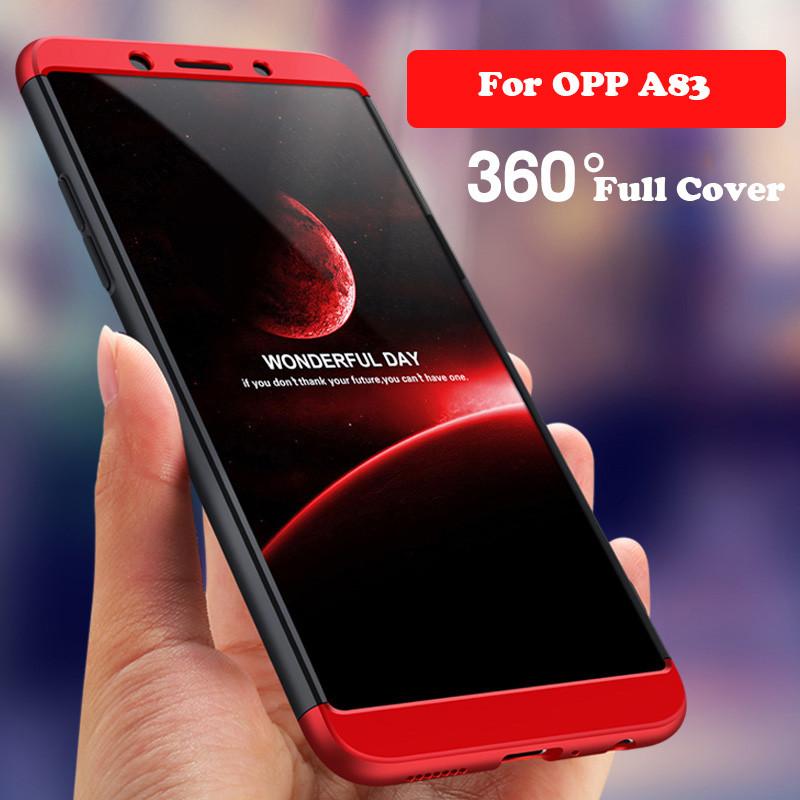360 Full Cover Shockproof Matte Hard PC Case For OPPO A83 A3 A5 A59 A57 F5 F7 F1S F9 Pro Find X R9 R9S R7 R11 Realme 1 2 Fundas