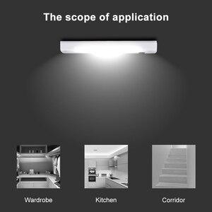 Image 5 - لاسلكي COB LED التبديل ليلة ضوء الشرفة الجدار مصباح لغرفة النوم المدخل خزانة المطبخ خزانة أضواء AAA مع الشريط المغناطيسي