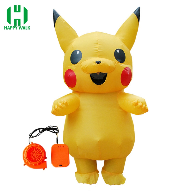 New Arrival Pikachu Inflatable Costume Halloween Costume For Adult Women Cosplay Outfits Popular Cosplay Costume