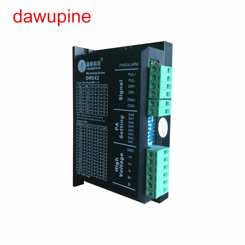 dawupine DM542 Stepper Motor Controller Leadshine 2-phase Digital Stepper Motor Driver 18-48 VDC Max. 4.1A 57 86 Series Motor dm542 stepper motor controller leadshine 2 phase digital stepper motor driver 18 48 vdc max 4 1a for 57 86 series motor