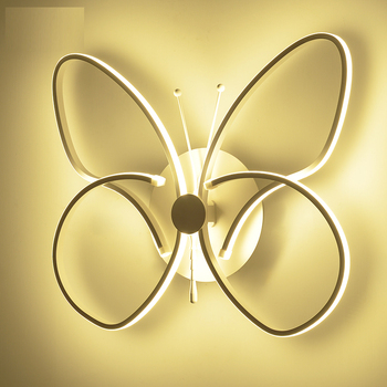 Butterfly Pioneering LED Wall Lamp Modern Simplicity Childrens roomfor Corridor Aisle Staircase Bedside Bedroom Decorative Lamp