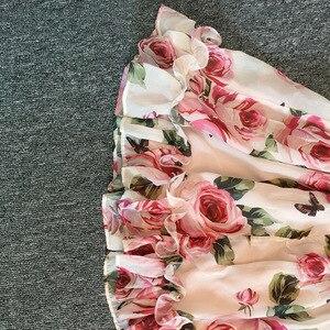 Image 5 - Letni kwiat dziewczyna Tutu róża jedwab 3D sukienka dzieci księżniczka sukienka ze sztucznego jedwabiu wesele urodziny dziecka dziewczyna sukienka z nadrukiem dla dziecka