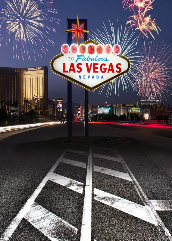 Fireworks in Las Vegas night sky vinyl cloth photography backdrops for landscape photo studio photographic background S-745