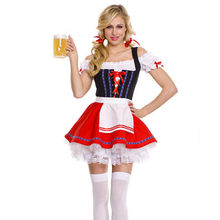 Volwassen Vrouwen Oktoberfest Kostuum Sexy Bier Meisje Uniform Beieren Duitse Wench Maid Dirndl Party Fancy Dress(China)