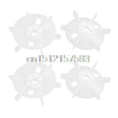 4 Pcs 19mm 6 Vanes Plastic Motor Fan Blade Wheel Impeller image