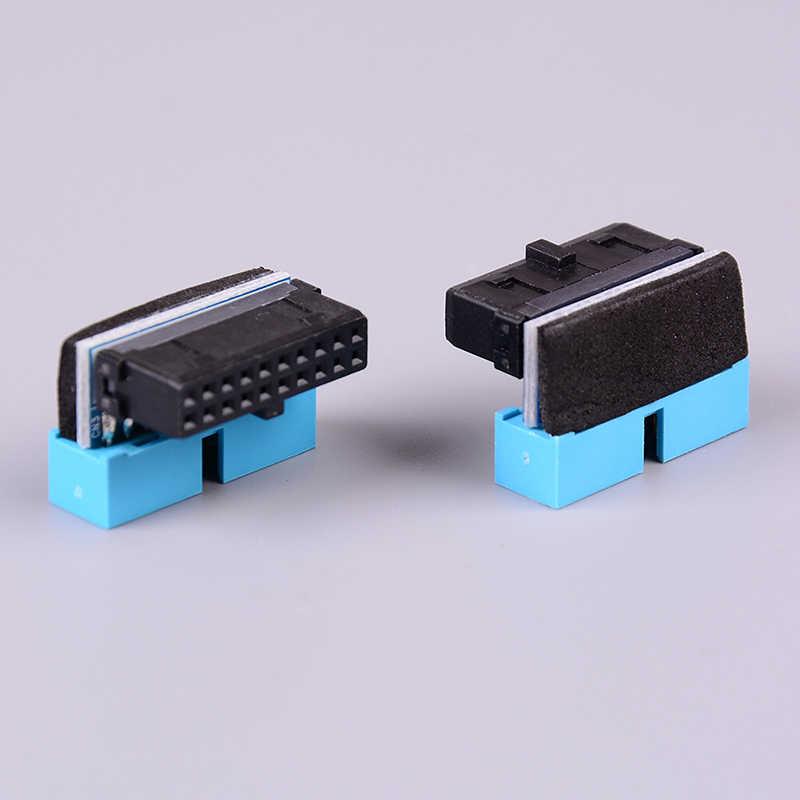 USB3.0 19P 20P męskie złącze 90 stopni płyta główna podwozie przednie siedzenie złącze rozszerzające